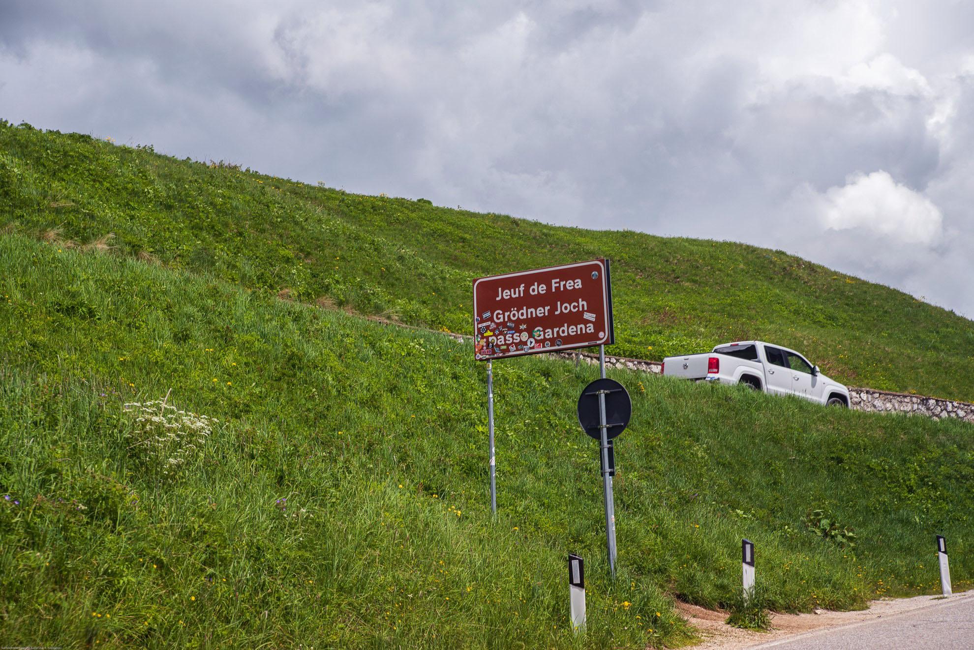 Passo Gardena - 2136m. n. p. m. - zdobyta!