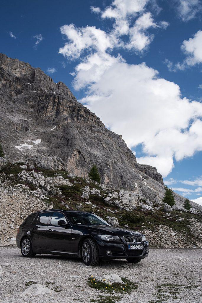BMW E91 na Passo Valparola we Włoszech
