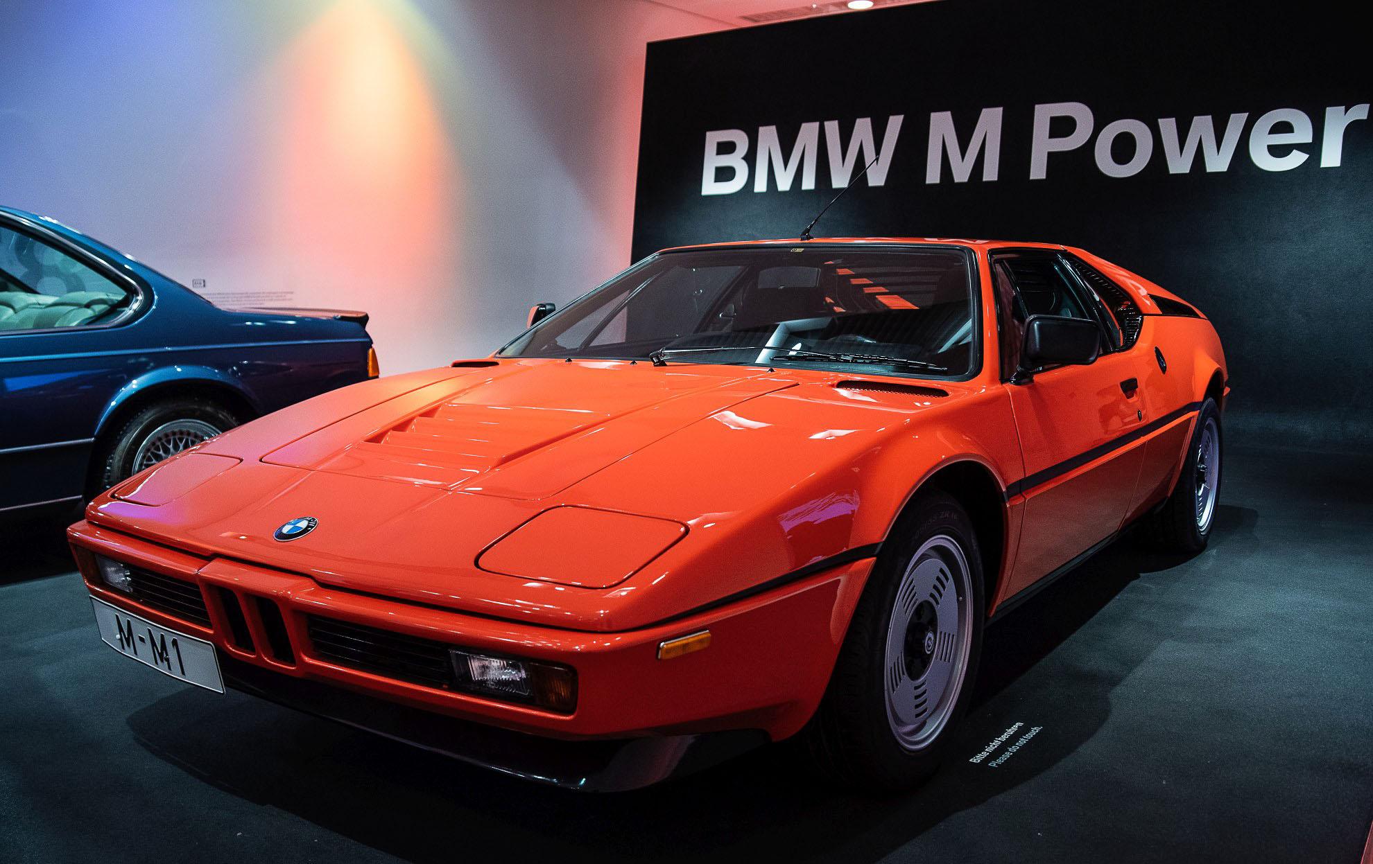 BMW M1 w dziale BMW M Power w Muzeum BMW w Monachium