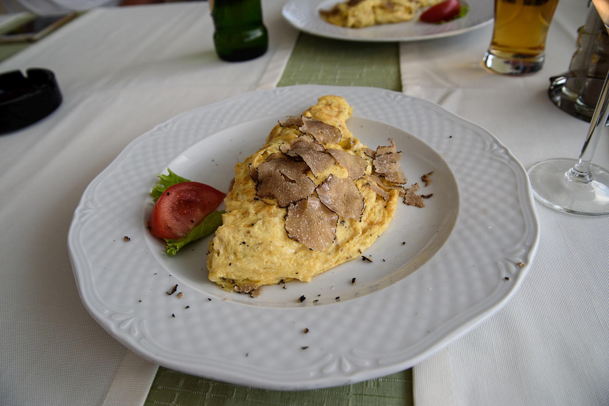 Omlet z białymi truflami - Motovun