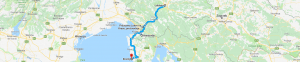 Trasa: Lublana, Lokev, Hrastovlje do Rovinj (Chorwacja)