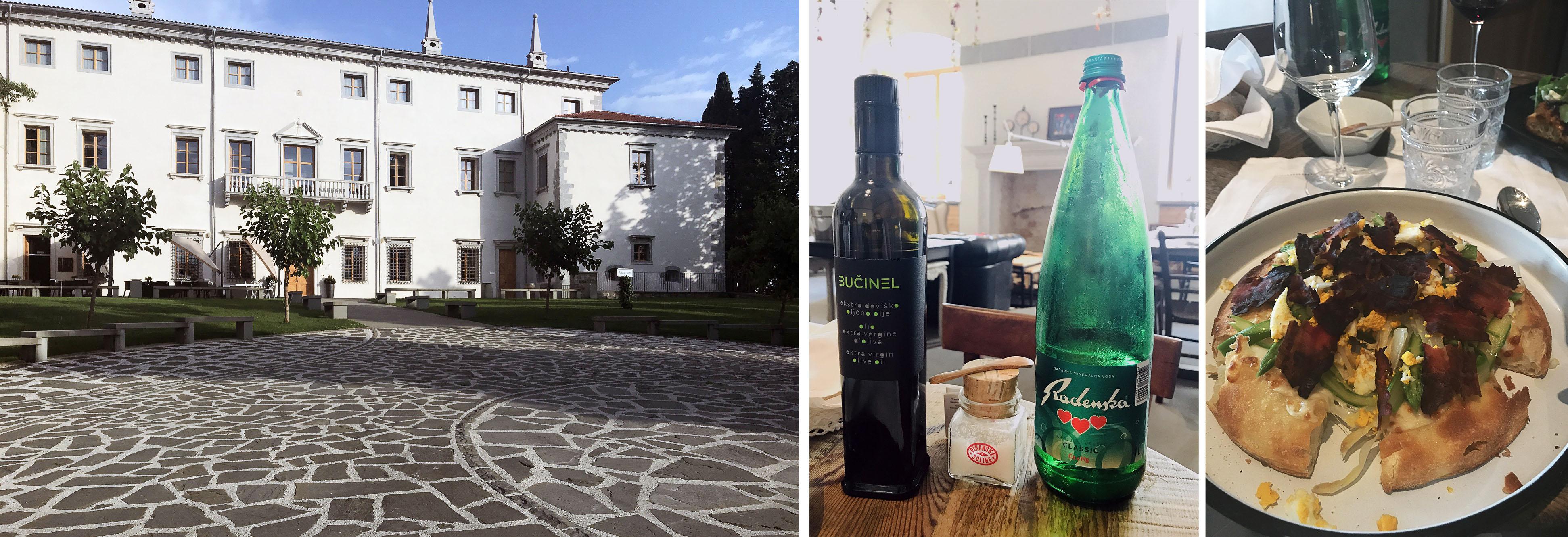 Vila Vipolže, pogača i lokalne, słoweńskie produkty