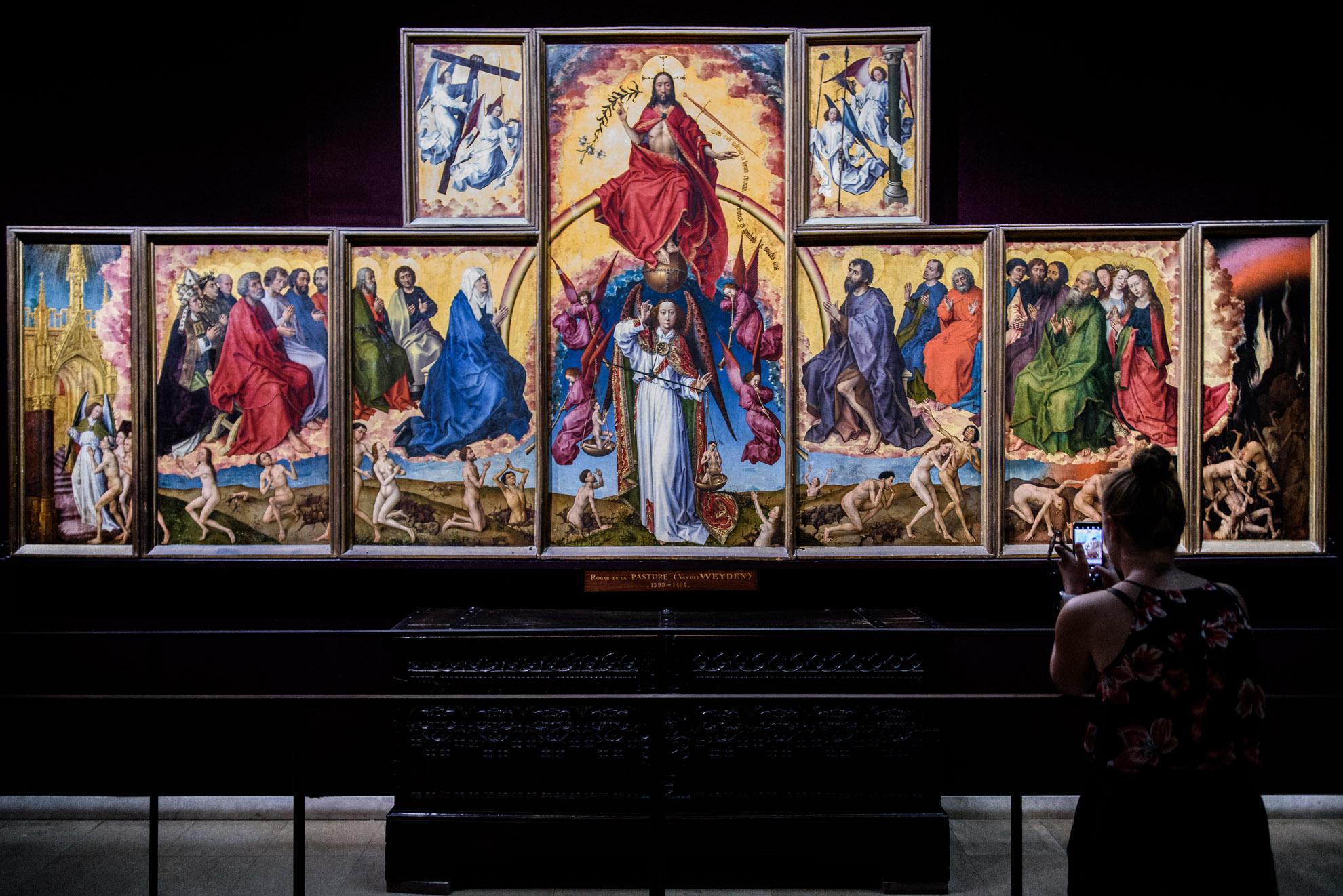 """Sąd ostateczny"" autorstwaRogiera van der Weydena"