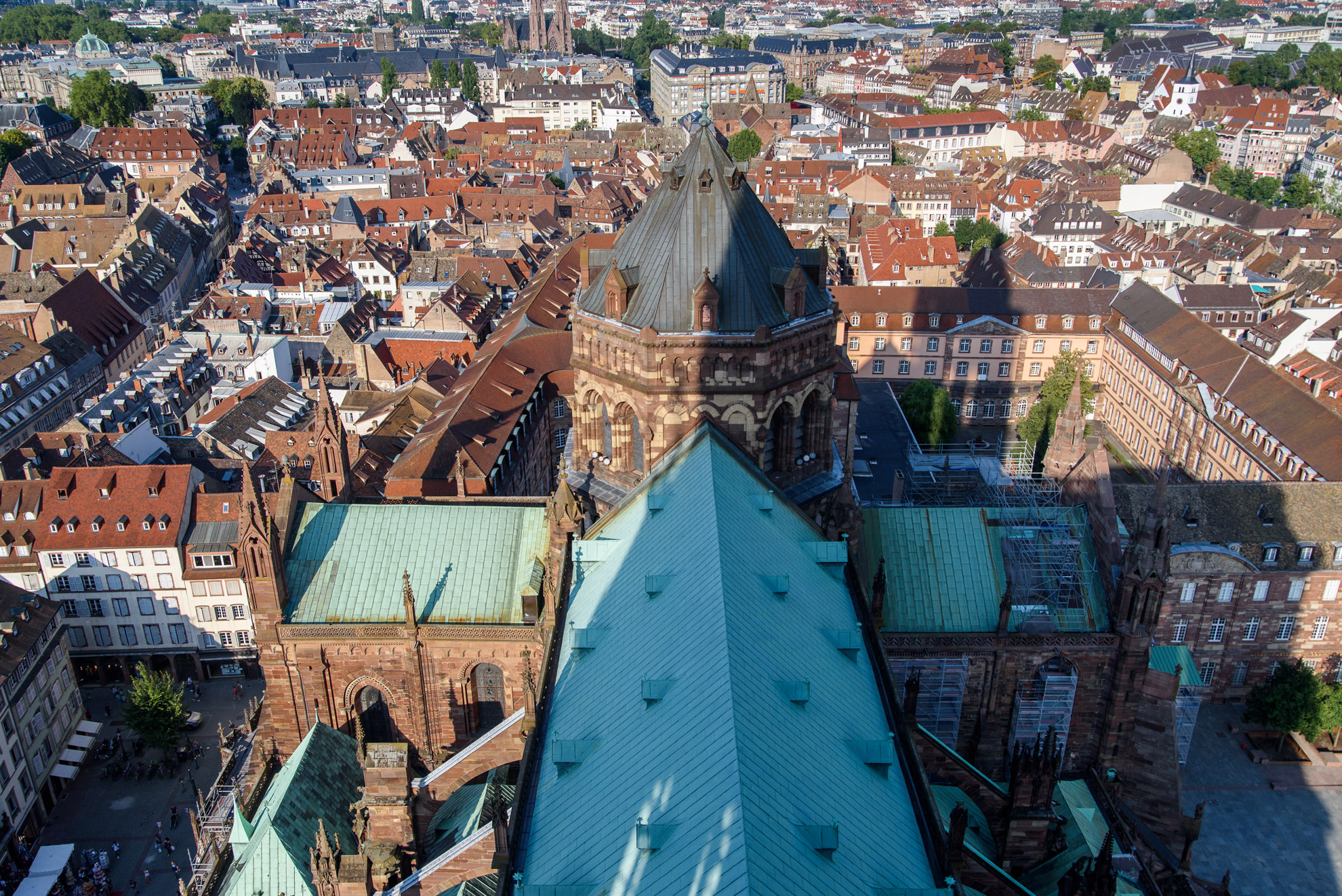 Katedra Najświętszej Marii Panny w Strasburgu - widok z wieży