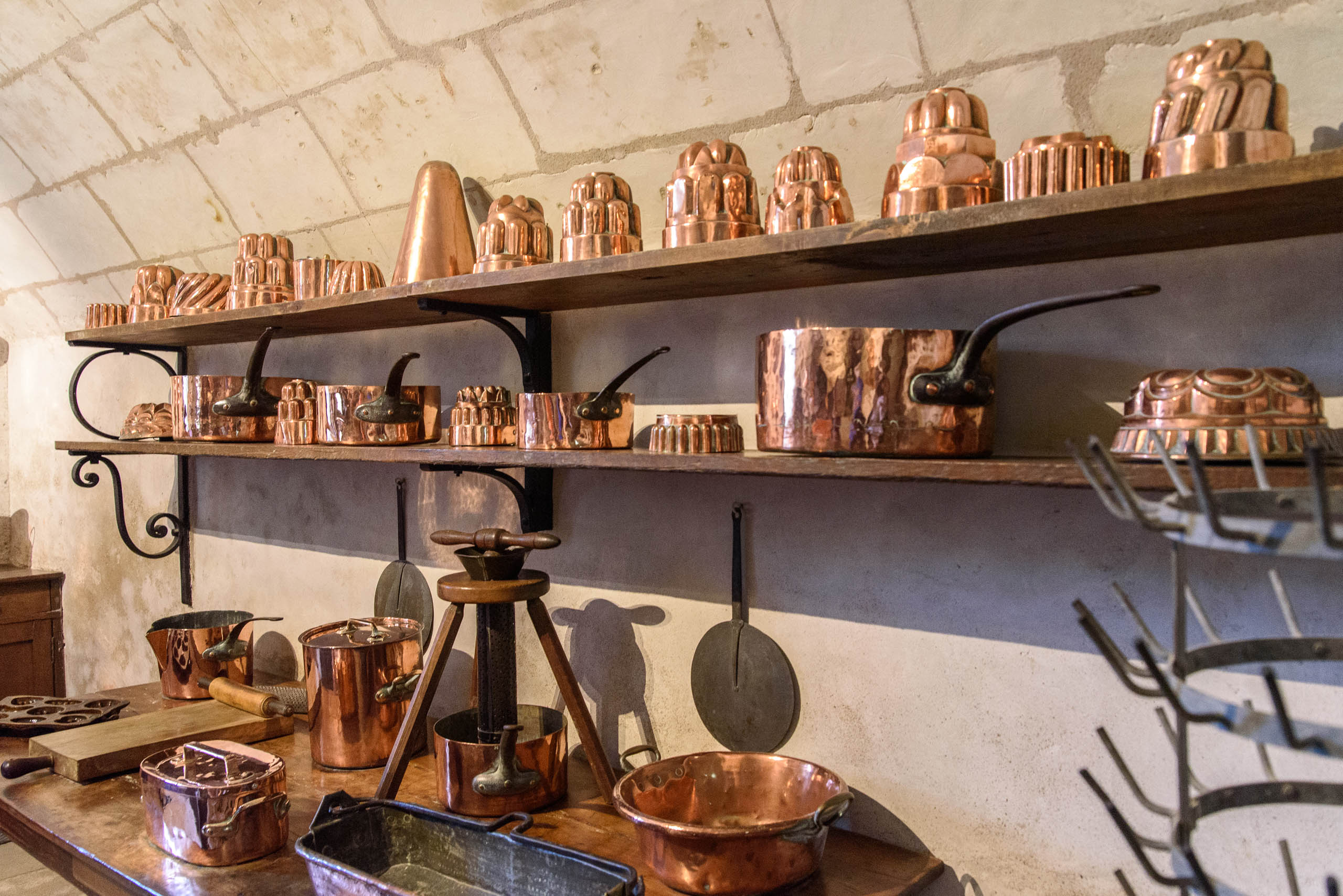 Kuchnia w Chenonceau