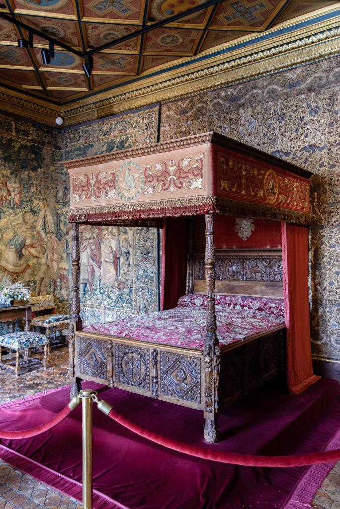 Chenonceau - łóżko Katarzyny Medycejskiej