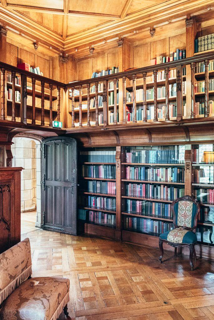 Biblioteka w Château de Candé
