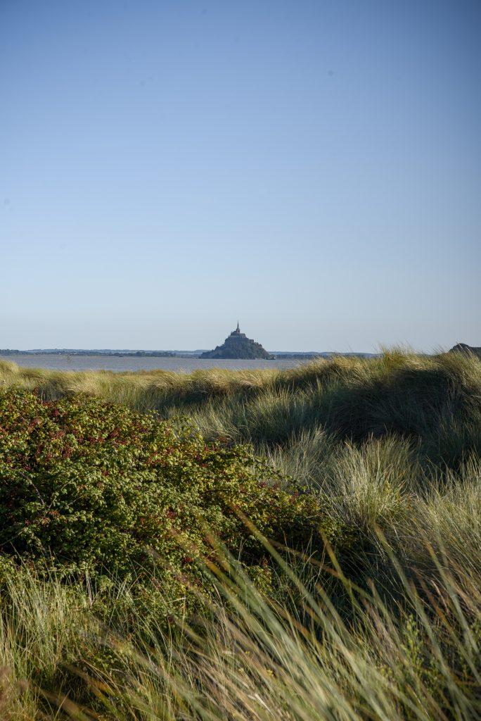 Mont Saint Michel widoczna z kanału La Manche