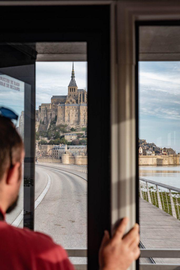 Mont Saint-Michel widoczny z autobusu
