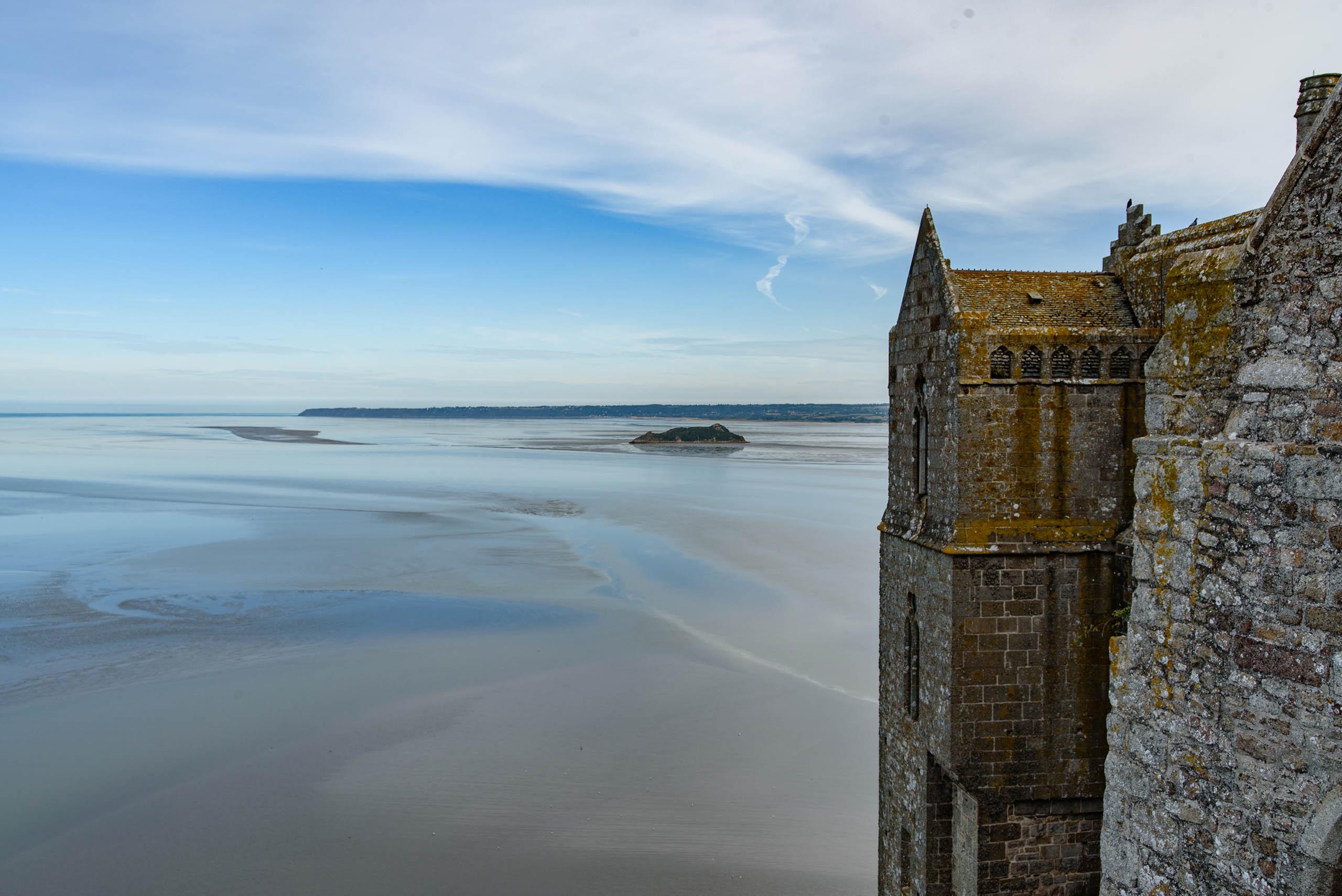 Widok z Mont Saint-Michel