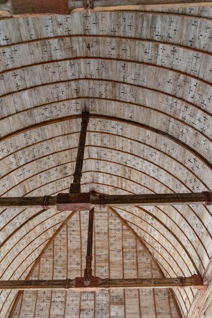 Sufit w Abbaye du Mont-Saint-Michel