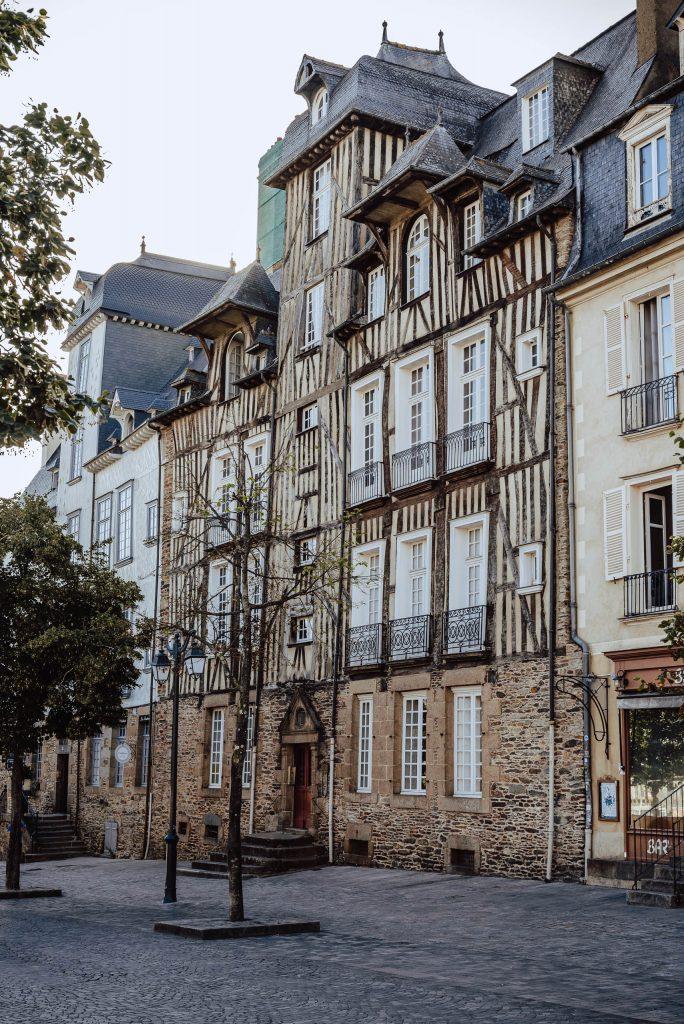 Kamienice w Rennes