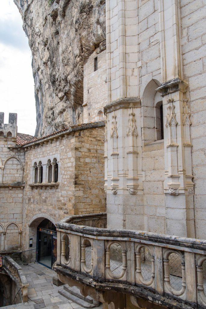 Mury Sanktuarium w Rocamadour