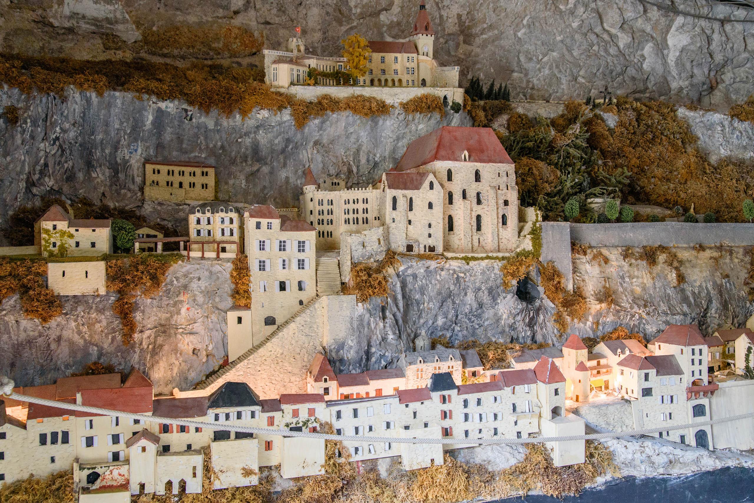 Makieta Sanktuarium w Rocamadour
