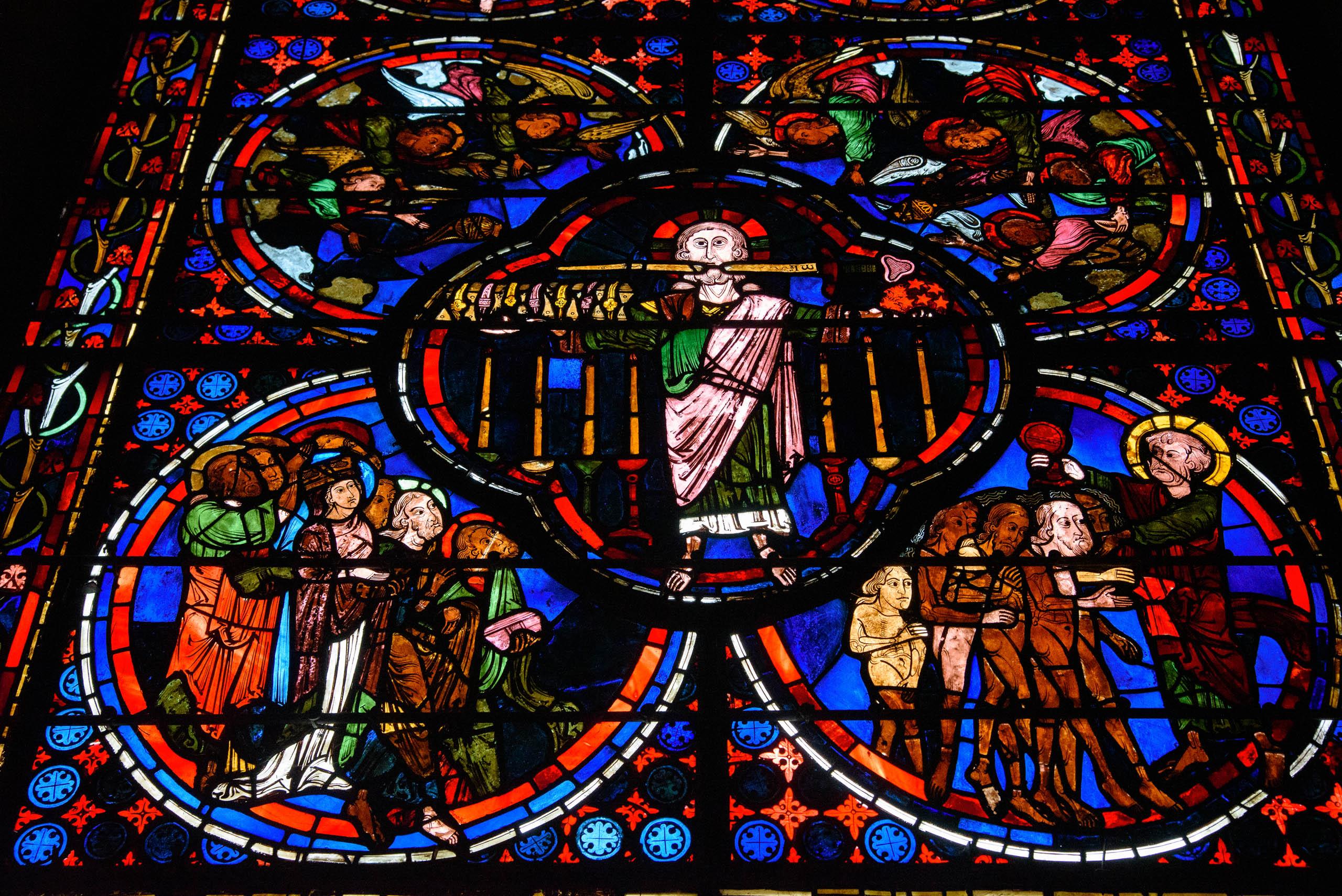Witraże w Katedrze Św. Szczepana w Bourges