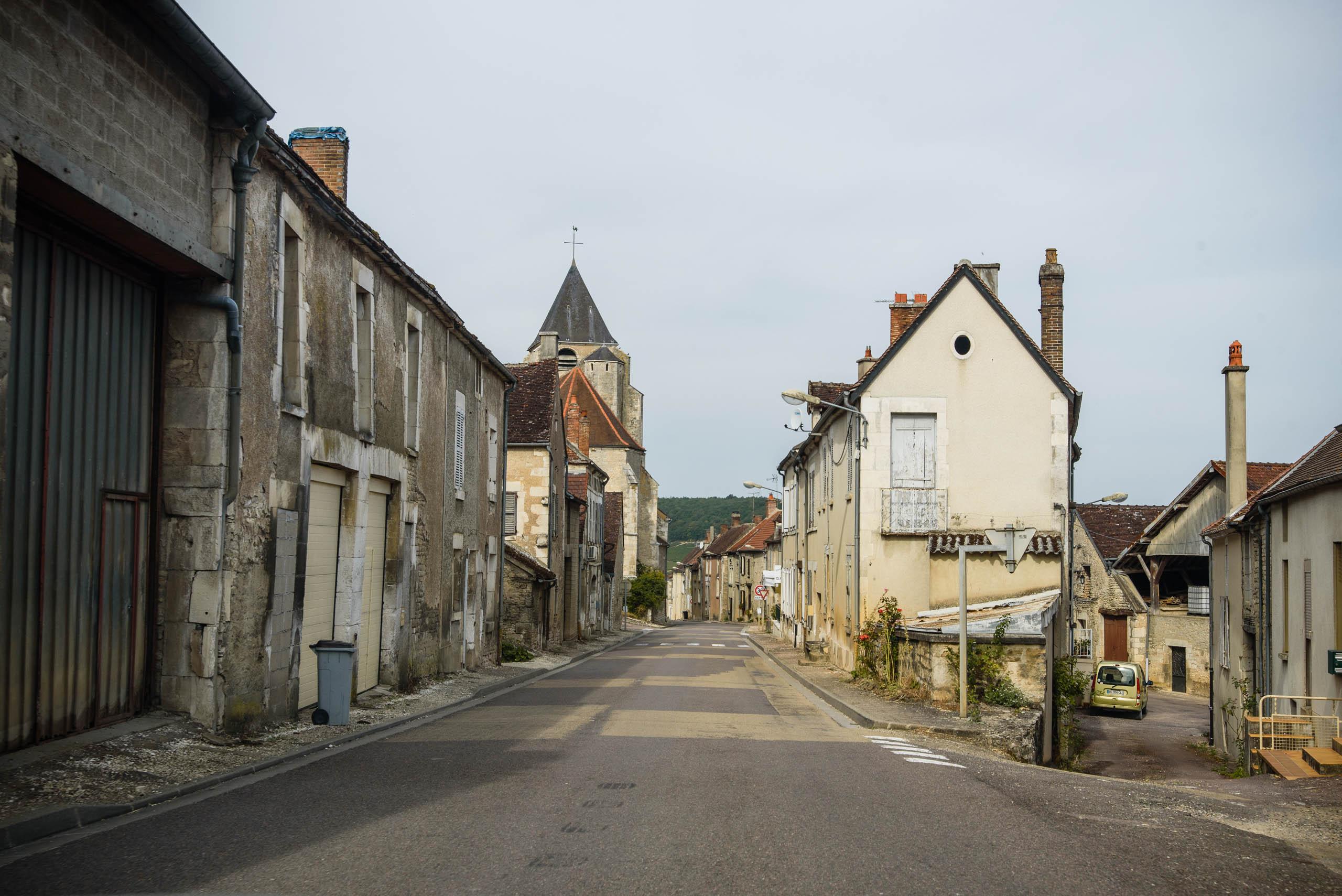 Wioska w zapomnianej części Burgundii